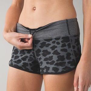 RARE Lululemon Cherry Cheetah Slate Speed Shorts